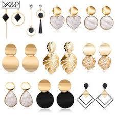 New Korean Heart Statement Drop Earrings 2019 for Women ... - Vova