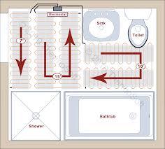 electric radiant heat bathroom. example electric radiant heat bathroom