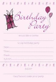 Blank Birthday Invitations For Teenage Girls Aesthetecurator Com