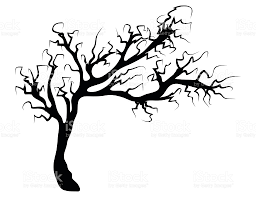 tree vector white. halloween creepy scary bare tree vector symbol icon design. royalty-free stock art white