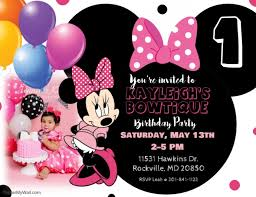 minnie mouse invitation template minnie mouse birthday invitation template postermywall