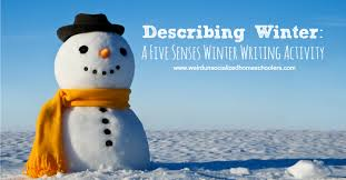 describing winter a five senses winter writing activity weird  describing winter a five senses winter writing activity
