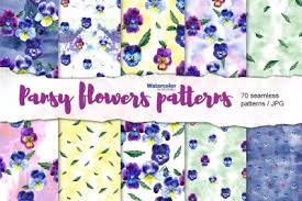 Feel free to contact me with questions or concerns. Download 70 Watercolor Pansy Flowers Patterns Free In 2020 Basic Watercolor Digital Paper Graphic Patterns