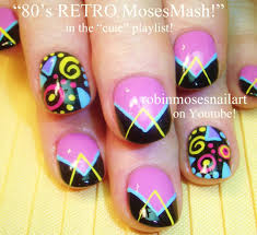Nail Art | Bright and FUN Nails Design Tutorial! 1980's inspired ...