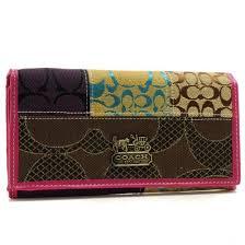 Coach Holiday Fashion Signature Large Pink Wallets 22894