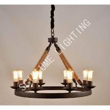 8 light rope filament round chandeliers lrr