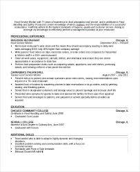 Waitressing Resume Sample Waiter Resume 6 Documents In Pdf Word