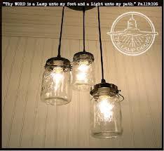 jar pendant lighting. Jar Pendant Lighting. Mason 3-light Chandelier Trio Of Vintage Quart Jars Lighting R