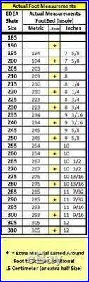 Edea Size Chart New Size 270 Appr 8 5 Us Edea Chorus Figure Skates