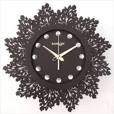 og wooden artistic brown wall clock