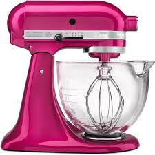 artisan designer 5 qt raspberry ice stand mixer