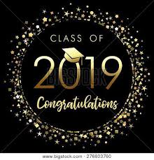 Congratulations Design Class 2019 Graduation Vector Photo Free Trial Bigstock