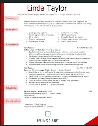 Teacher Resume Template Word Awesome Objective Teacher Resume Te Marvelous Teacher Resume Template Word