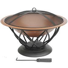 details about azuma azar fire pit copper colour bowl patio heater burner garden outdoor