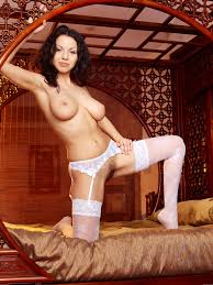 Hairy Christina Schmidt from Met Art Wearing White Lingerie.