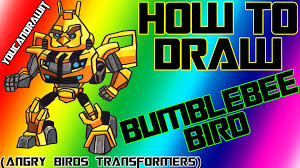 Small Picture How To Draw Bumblebee Bird from Angry Birds Transformers