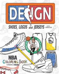 nba design shoes logos and jerseys the ultimate creative coloring book for s