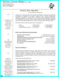 Free Basic Resume Examples Visual Art Teacher Sample Objectives
