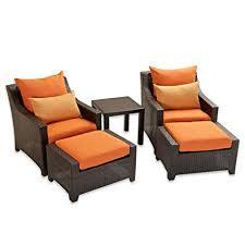 deco garden furniture. RST Outdoor Brands OP-PECLB5-TKA-K Deco 5pc Club Chair \u0026 Deco Garden Furniture