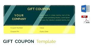 Coupon Format Template Free Gift Coupon Template