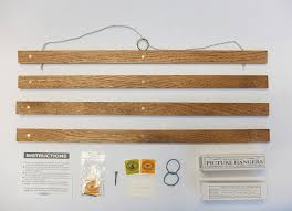 wooden picture hanger bespoke sizes 6 48inch