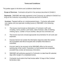 Invoice Terms And Conditions Example Agreement To Template Payment ...