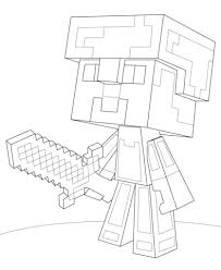 Small Picture Minecraft Steve Diamond Armor coloring page from Minecraft