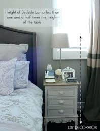 tall bedside lamps how tall should a bedside table lamp be medium size of what is the right bedside lamp height decorator with regard to how how tall should