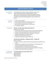 janitorial resume tk janitorial resume 23 04 2017