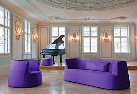 purple furniture. eco friendly and luxury seating design for living room furniture powder purple sofa chair series by kati meyer i