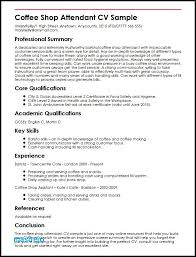 Sample Resume Barista Best Of Barista Resume Barista Resume Sample New Coffee Shop Attendant Cv