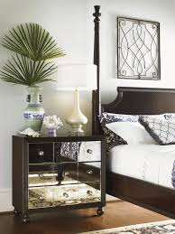 Mirrored Night Stands Bedroom Mirrored Bedroom End Tables Design Luxury Faceted Mirrored