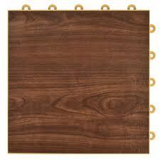 walnut interlocking basement plastic and vinyl floor tile 24 pack 24 5 sq ft