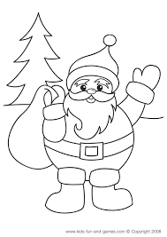 Small Picture Santa Christmas coloring page free at wwwkidsgamescentralcom
