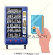 Vending Machine Front Graphics Adorable Clip Art Of Vending Machine And Hand With Credit Card Vector