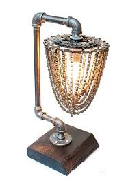 reclaimed industrial lighting. the apex industrial chic reclaimed bike chain lamp on etsy lighting u