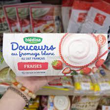 Sữa chua phô mai Bledina Pháp cho bé ăn dặm 8M+