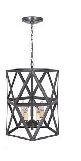 hardwired pendant series 5 lights brushed bronze mini chandelier with cage shade