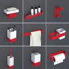 Red Bathroom Hardware Set Toothbrush Holder Metal Bathroom Accessories Spray Painting Bathroom Shelf Towel Rack Soap Dispenser Bath Hardware Sets Aliexpress