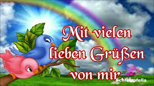Liebe Grüßedie Farben Des Regenbogenspuste Ich Zu Dirfür Ein