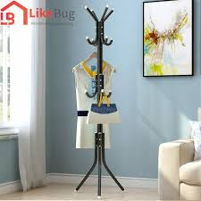 like bug 12 hook convenient hanging steel pole rack for clothes bags