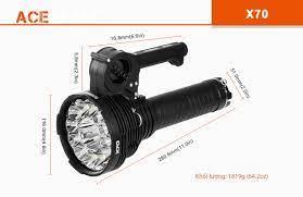 Đèn pin siêu sáng ACEBEAM X70 sáng 60000lm chiếu xa 1115m