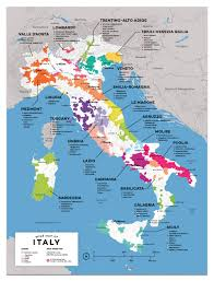detailed italian wine regions map  wine posters  wine folly