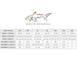 Greg Norman Clothing Size Chart Sturtevants