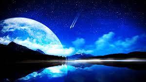 Blue Landscape Moon Wallpapers - Top ...