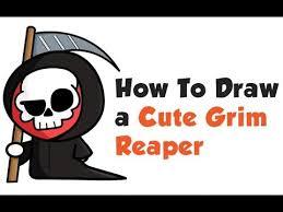 how to draw a cartoon grim reaper cute