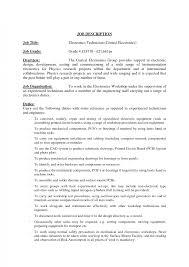 Assembly Line Worker Job Description Resume It Technician Jobcription Template Best Computer Repair Resume 63