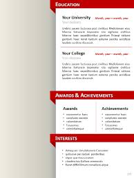 Clean ResumeCV Template For Powerpoint Simple Resume Powerpoint