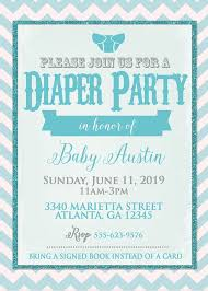 Diaper Shower Invitation Diaper Party Invitation Diaper Shower Invitation 5x7 Size