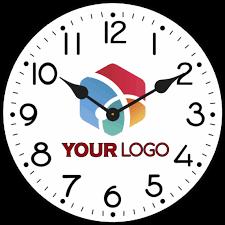 logo clocks custom logo wall clocks